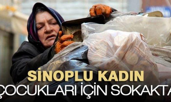 Sinoplu Kadın Çocuklarını Kurtarmak İçin Kağıt Topluyor