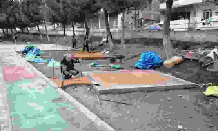 Boyabat Yenimahalle'de Park Çalışmaları