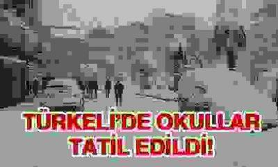 Türkeli'de Okullar Tatil Edildi