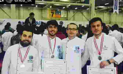 Anadolu Üniversitesi Aşçı Bölümü Öğrencileri Madalya Ödülü Elde Etti