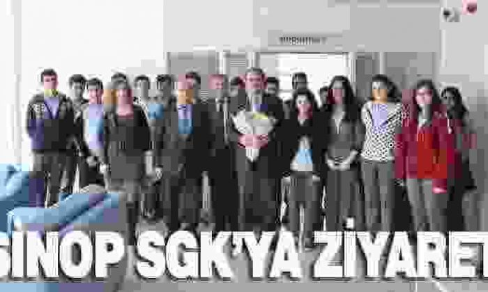 Sinop Sgk'ya Sinop Anadolu Ticaret Ve Meslek Lisesinden Ziyaret