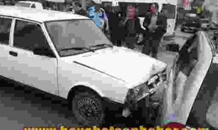 Boyabat Dörtyol'da Maddi Hasarlı Trafik Kazası
