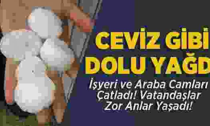 Sinop'ta Dolu Yağışı Vatandaşlara Zor Anlar Yaşattı
