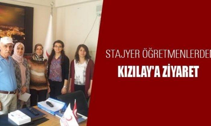Stajyer Öğretmenlerden Kızılay'a Ziyaret