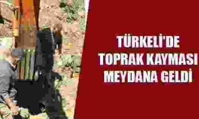 Türkeli'de Toprak kayması hasara yol açtı
