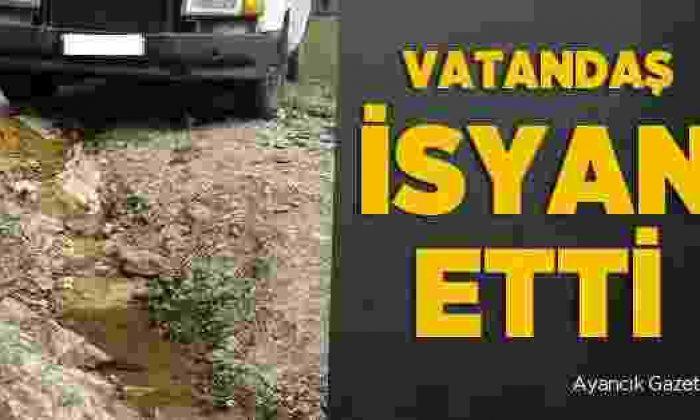 Boyabat'ta Yağışlar Nedeniyle Yollar Zarar Gördü