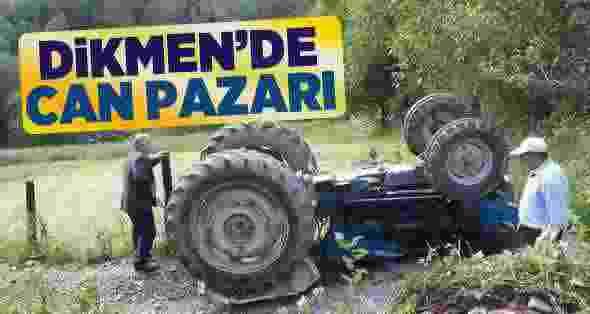 Dikmen'de Traktör Devrildi