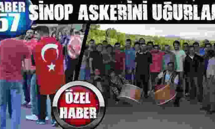 Sinop Askerini Uğurladı