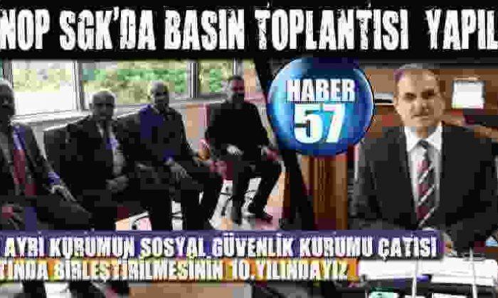 Sinop Sgk'da Basın Toplantısı Yapıldı