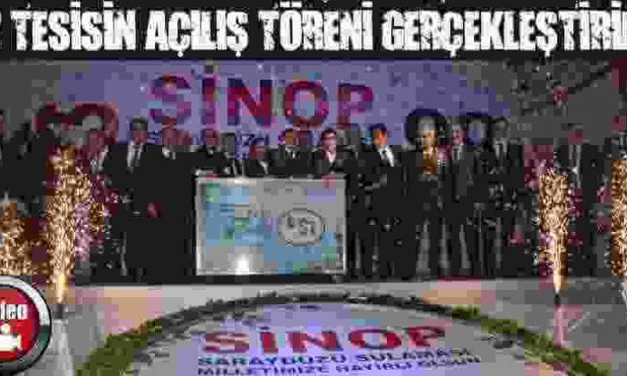Sinop'Ta 12 Adet Tesisin Açılış Töreni Gerçekleştirildi