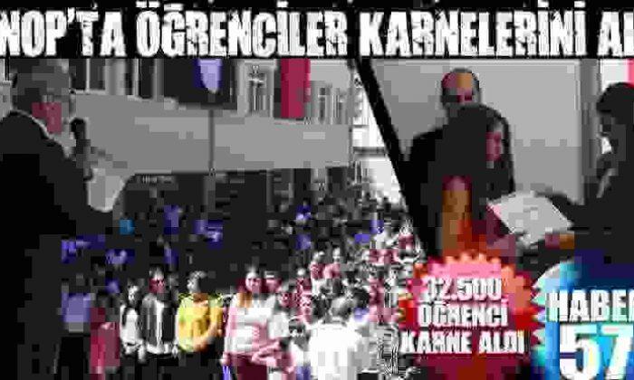 Sinop'Ta Öğrenciler Karnelerini Aldı