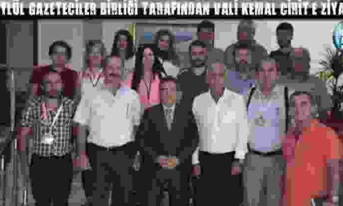 15 Eylül Gazeteciler Birliği Tarafından Vali Kemal Cirit'E Ziyaret