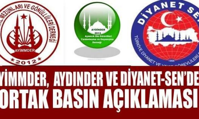 Ayimmder, Aydınder ve Diyanet-Sen'den basın açıklaması