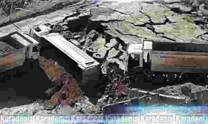Maden ocağında toprak kayması