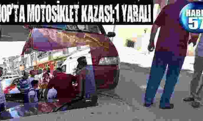 Sinop'Ta Motosiklet Kazası;1 Yaralı