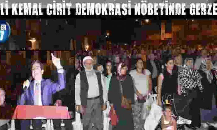 Vali Kemal Cirit Demokrasi Nöbetinde Gerze De