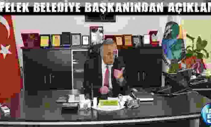 Erfelek Belediye Başkanından Açıklama