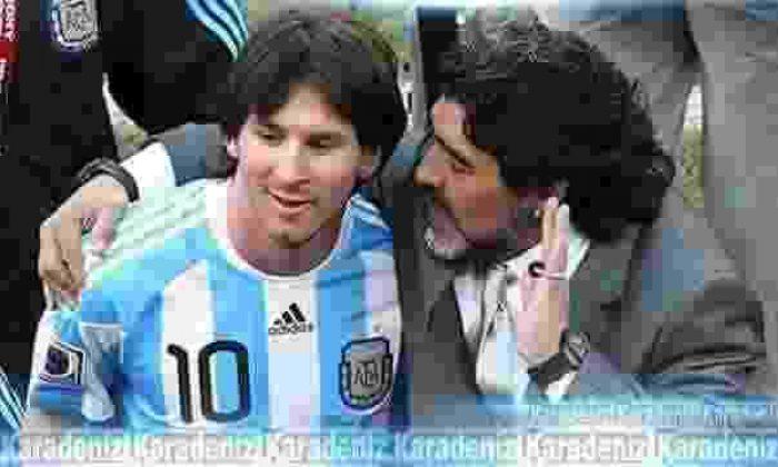 Messi'de Maradona'da olan…
