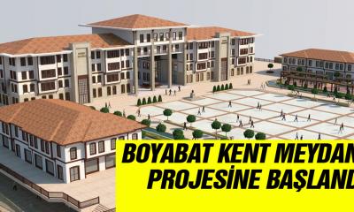Boyabat Kent Meydanı Projesine başlandı