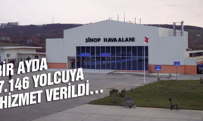 Sinop Havalimanında 1 Ayda 8.146 yolcuya hizmet verildi