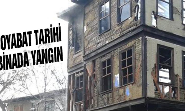 Boyabat Tarihi binada yangın