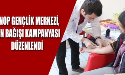 Sinop Gençlik Merkezi, Kan Bağışı Kampanyası Düzenlendi
