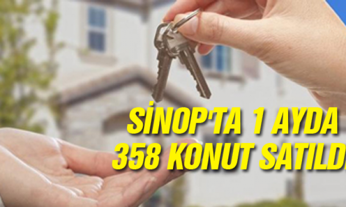 Sinop'ta 1 Ayda 358 konut satıldı