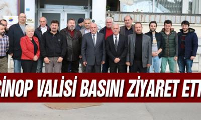Sinop valisi Basını Ziyaret Etti
