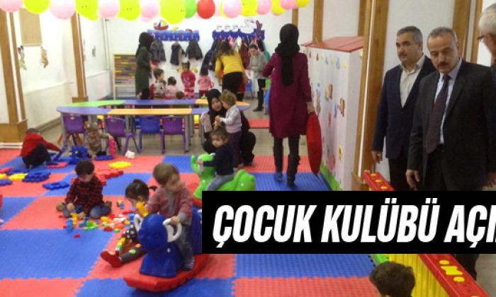 Ayancık Belediyesi Çocuk Kulübü Açıldı