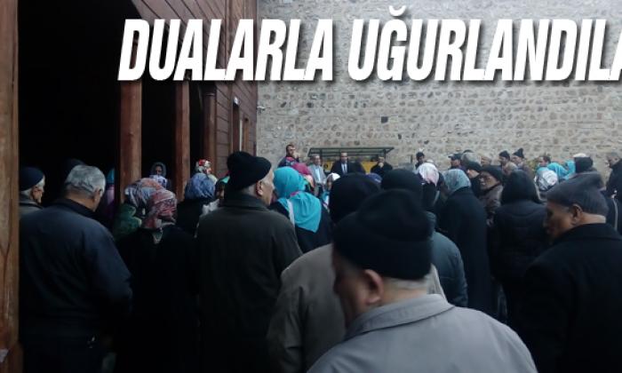 Sinop'tan Dualarla uğurlandılar