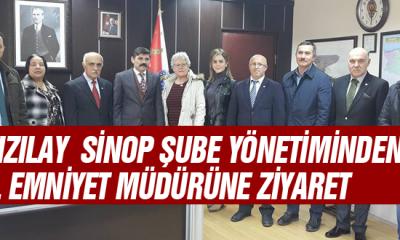 Kızılay  Sinop Şube Yönetiminden İl Emniyet Müdürüne Ziyaret