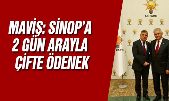 Maviş: Sinop'a 2 Gün Arayla Çifte Ödenek
