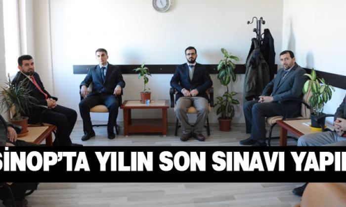 Sinop'ta Yılın Son Sınavı Yapıldı
