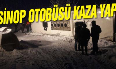Sinop Otobüsü Kaza Yaptı