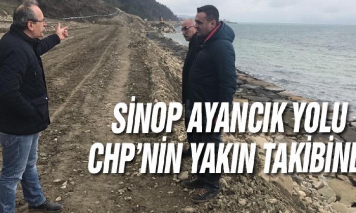 Sinop Ayancık Yolu Chp'nin Yakın Takibinde