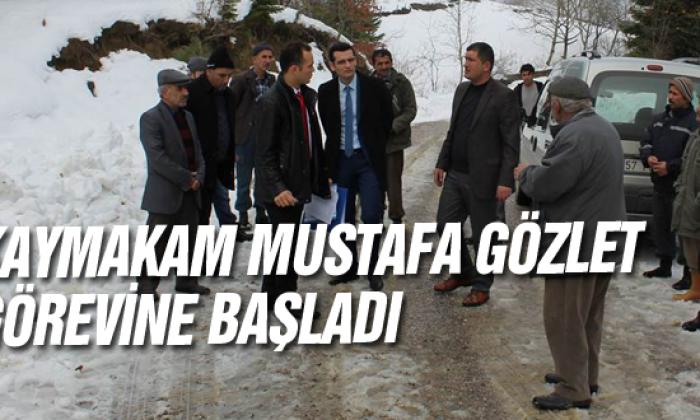 Kaymakam Mustafa Gözlet görevine başladı