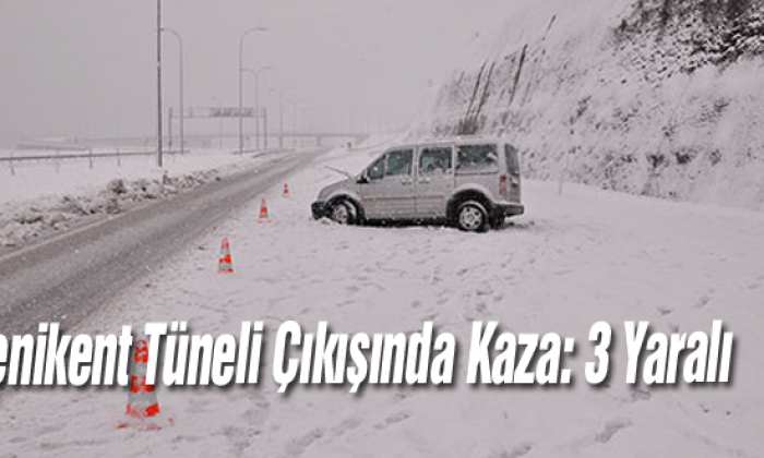 Yenikent Tüneli Çıkışında Kaza: 3 Yaralı