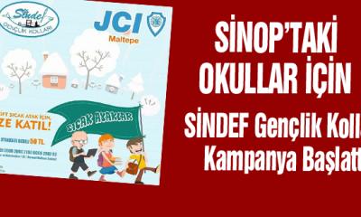 Sinop'taki okullar için SİNDEF Gençlik Kolları kampanya başlattı