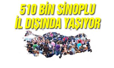 510 Bin Sinoplu İl Dışında Yaşıyor