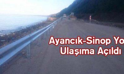 Ayancık-Sinop Karayolu Ulaşıma Açıldı