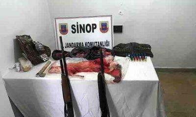 Sinop'ta Kaçak Avcılar Operasyon ile Yakalandı