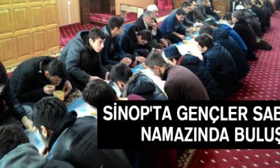 Sinop'ta Gençler Sabah Namazında Buluştu