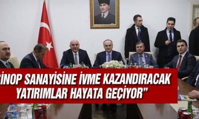 Sinop Sanayisine İvme Kazandıracak Yatırımlar Hayata Geçiyor