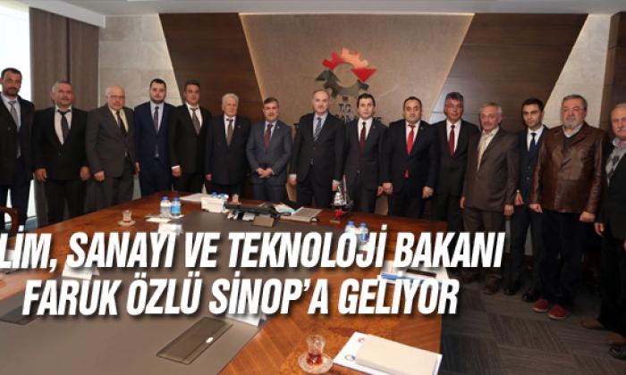 Bilim, Sanayi Ve Teknoloji Bakanı Faruk Özlü Sinop'a Geliyor