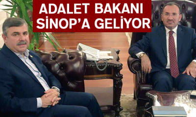 Adalet Bakanı Bekir Bozdağ Sinop'a Geliyor