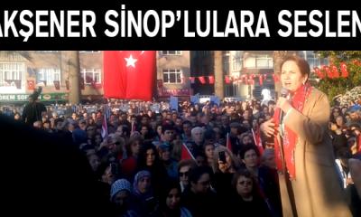 """Akşener, Sinop'tan """"HAYIR"""" dedi"""