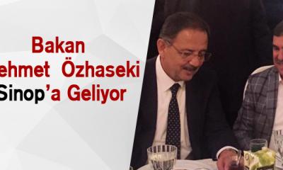 Bakan MehmetÖzhasekiSinop'a Geliyor