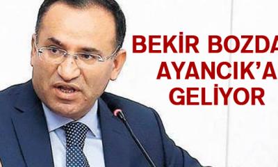 Adalet Bakanı Bekir Bozdağ Ayancık'a Geliyor