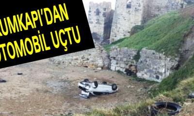 Sinop'ta otomobil uçtu