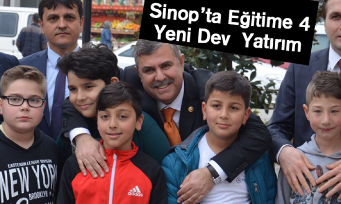 Sinop'ta Eğitime 4Yeni DevYatırım